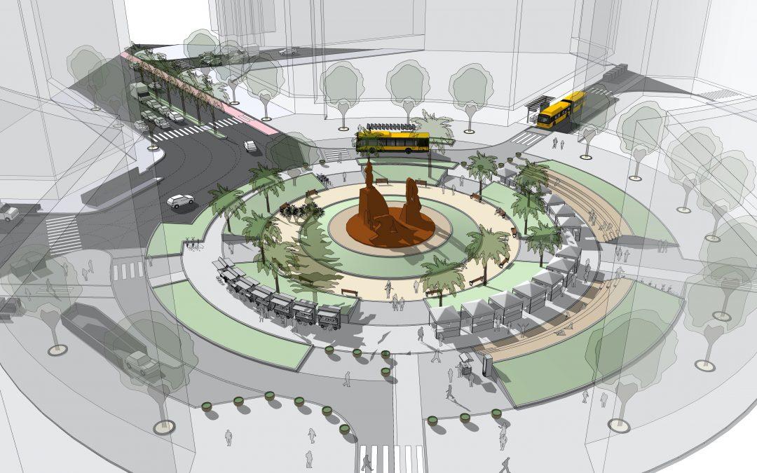 Comienza la peatonalización de la Plaza de España