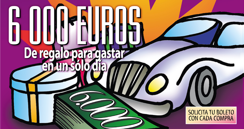Cartel sorteo 6.000 € para gastar en Zona Mesa y López