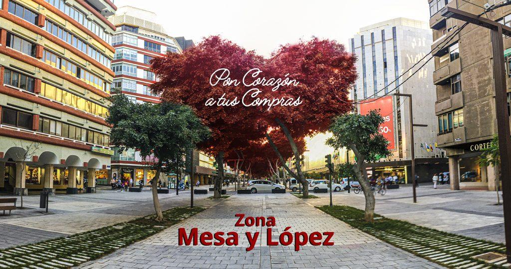 """Zona Mesa y López """"Pon Corazón a tus compras"""""""