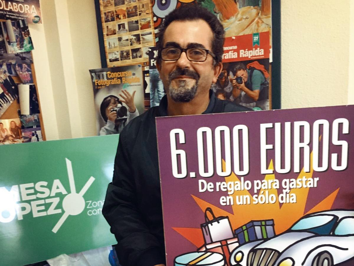 Juan Francisco Ayala Bravo de Laguna ganador sorteo 6000€ Zona Mesa y López