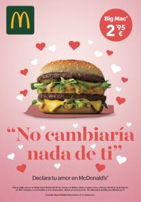 Oferta San Valentín McDonald's