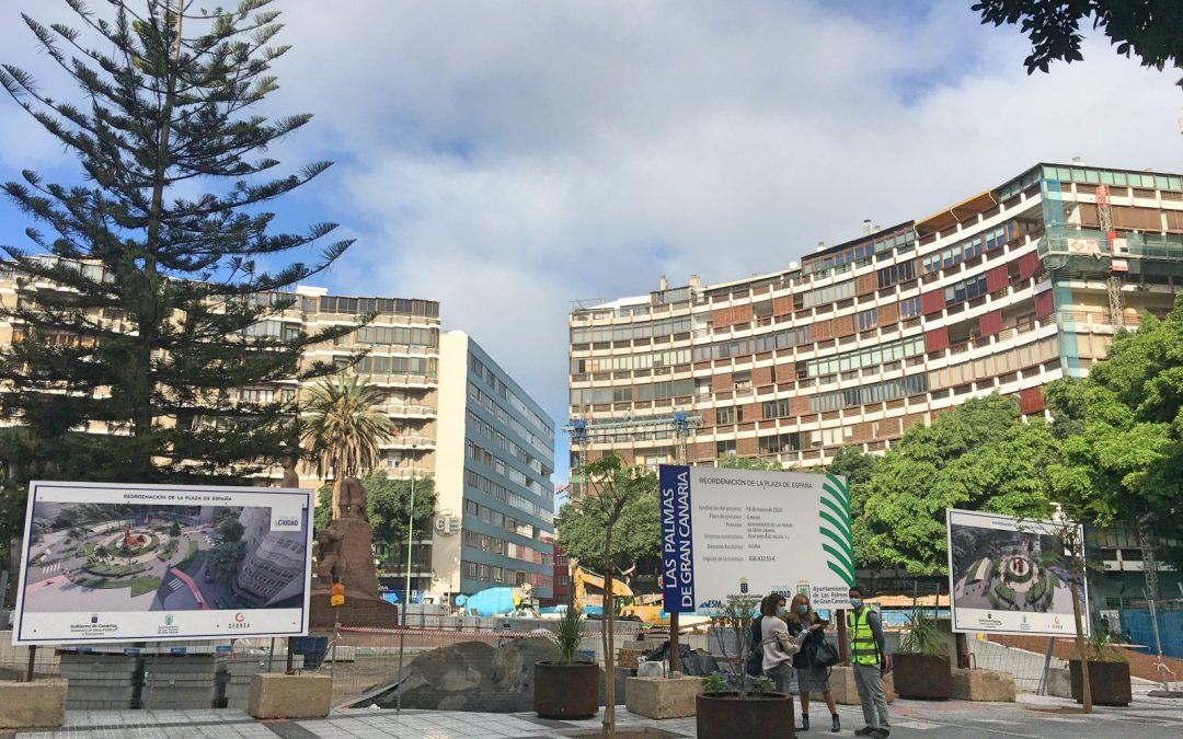 Las terrazas de la Plaza de España y el plan de futuro