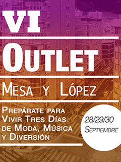 6th Zona Mesa y López Outlet Poster