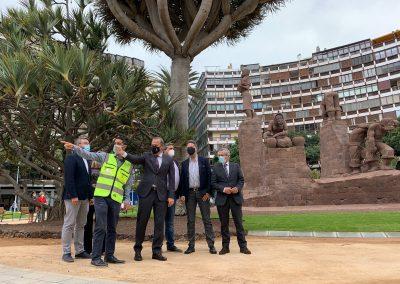 El concejal de Urbanismo de la capital grancanaria en la Zona Mesa y López