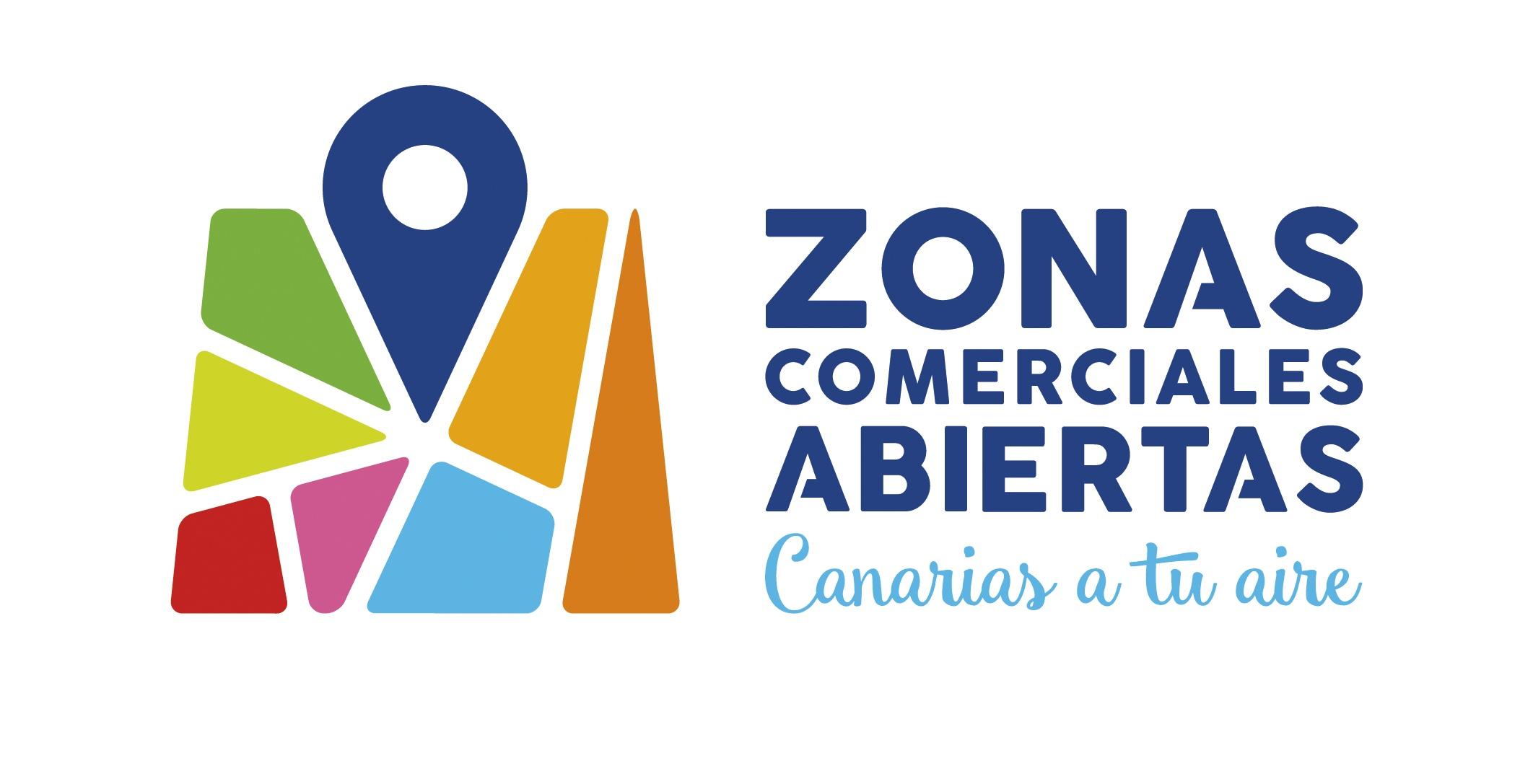Logo Zonas Comerciales Abiertas Gobierno de Canarias