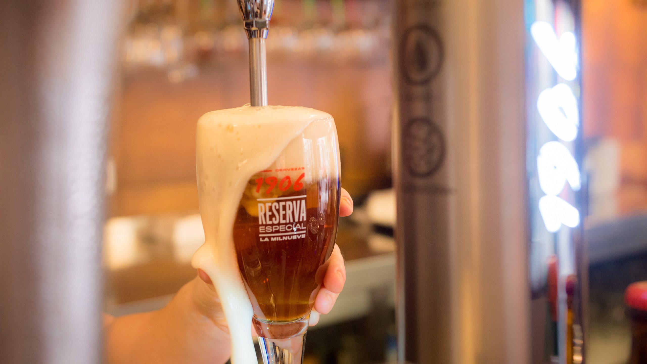 Caña de cerveza en La Tasquita Vieja en Zona Mesa y López