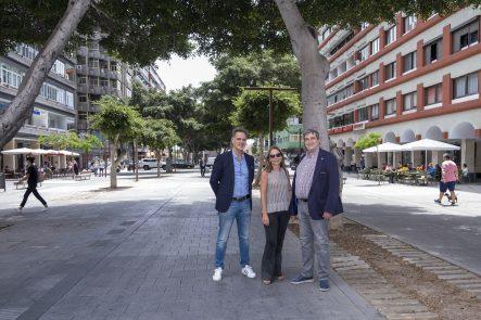Javier Doreste, Pepi Peinado y Francisco González
