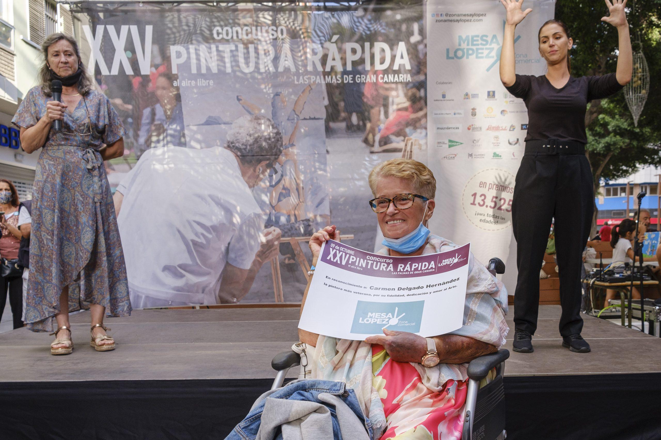 Carmen Delgado Hernández, Ganadora XXV Concurso de Pintura Rápida Al Aire Libre