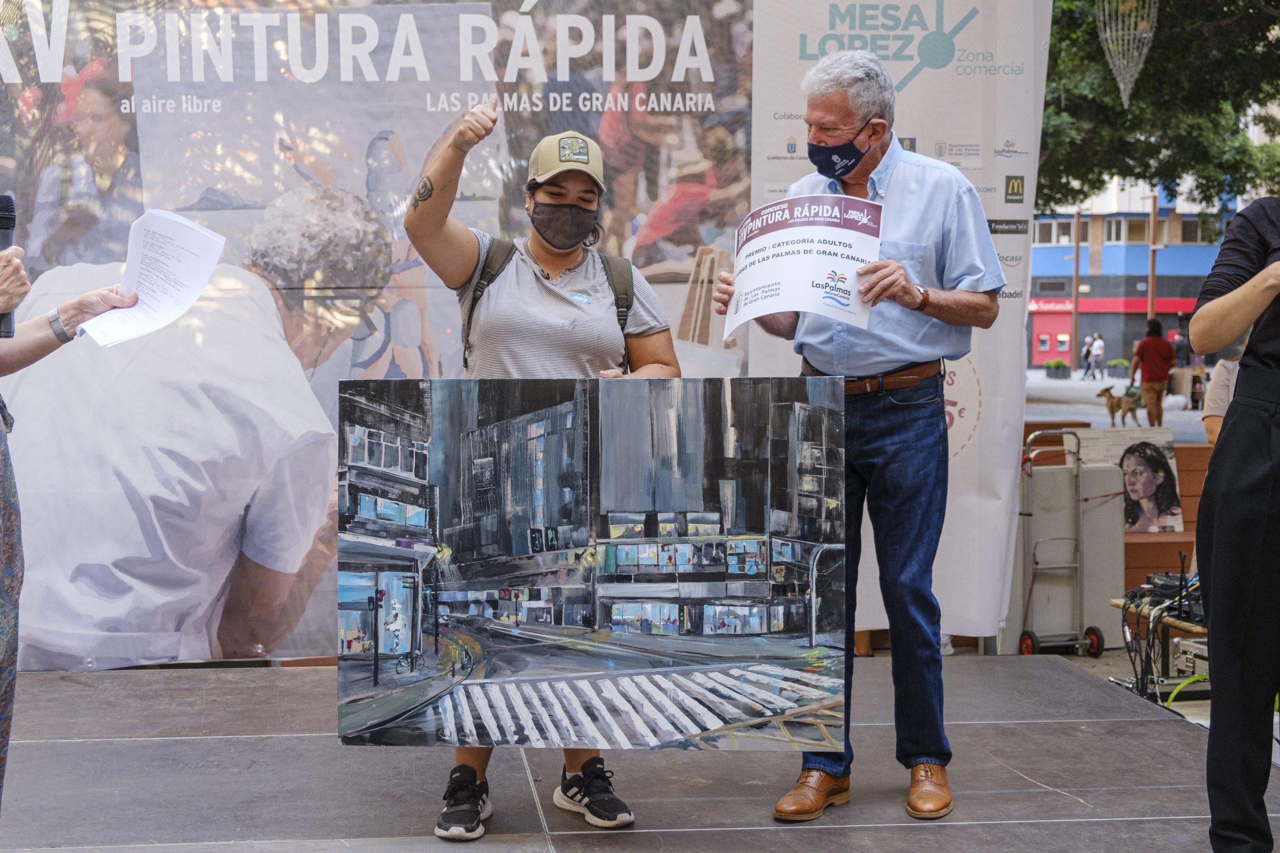 Ganadora del primer premio del XXV Concurso de Pintura Rápida Lpa 2021