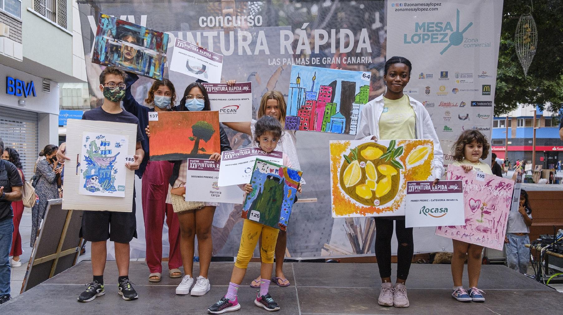 Ganadores junior XXV Concurso de Pintua Rápida al aire libre