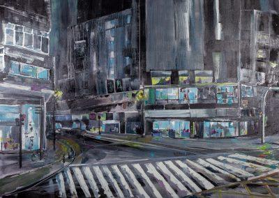 Premio Ciudad de Las Palmas de Gran Canaria, Raquel García Hofmann Título: Nocturno - XXV Concurso de Pintura Rápida al aire libre de Zona Mesa y López
